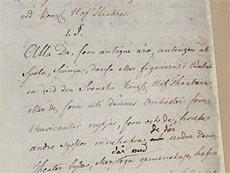 Kungliga Theaterns Reglemente 14 november 1772, närbild på handskriften.