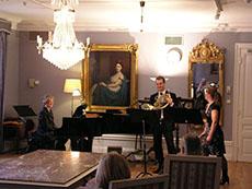 Kammarmusik med Gunnel Lundberg, Björn Olsson och Annamia Eriksson i Solistfoajén.