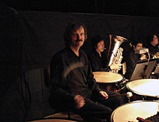 Slagverkaren Reiner Segers från Berliner Philharmoniker.