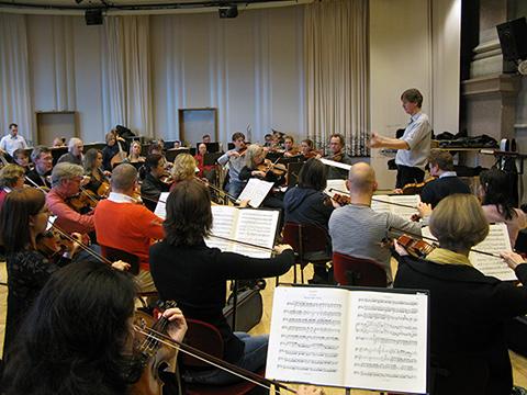 Hovkapellet repeterar med Gregor Bühl 17 jan 2008 Foto: Jarl Högbom