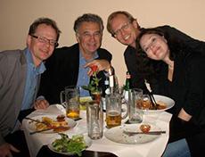 Middag med Adorjàn: Erik Frieberg, Andràs Adorjàn, Lars David Nilsson och Susanne Hörberg