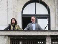 Balkongen utanför Kaminzimmer där Hitler och Mussolini stod och firade Frankrikes kapitulation.