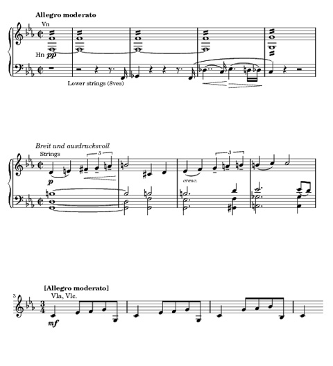 Tre temata ur Bruckners åttonde symfoni