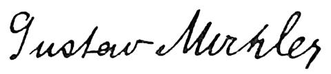 Gustav Mahler, signatur