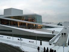 Oslos operahus. Exteriör