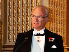 HM kung Carl XVI Gustaf höll tal till Hovkapellets medaljörer