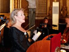 Birgitta Svendén höll tal.