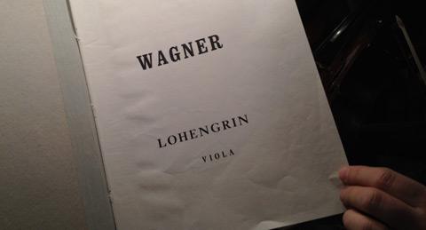 Wagner Lohengrin (försättsblad violastämma)
