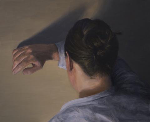 Mikael Rydh / Oväntat ljus, olja på trä, 32x39 cm, 2012